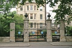 Security Gates. Big iron security gates protecting a property in London Royalty Free Stock Photos