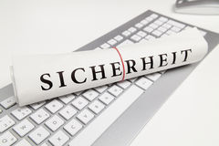 Security in german Royalty Free Stock Images