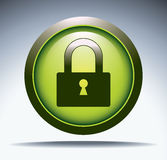 Security glass button Stock Photo