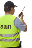 Security guard. A security guard on white background royalty free stock photography