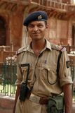 Security guard. Akbar's Tomb, Sikandra, India royalty free stock image