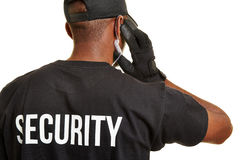 Security guard from behind Stock Photo