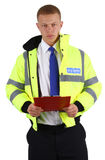 Security guard with a clipboard Stock Photography