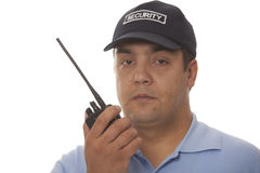 Security guard communication detail Stock Photos