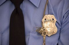 Security Guard Detail, Badge, Whistle, Uniform Stock Photos