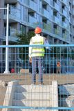 Security in Construction Area Royalty Free Stock Image
