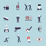 Security guard flat icons Royalty Free Stock Photo