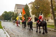 Security guard of the fortress Alba Carolina Royalty Free Stock Photography