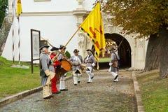 Security guard of the fortress Alba Carolina Stock Photos