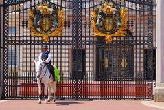 Security guard in front of the castle Royalty Free Stock Images
