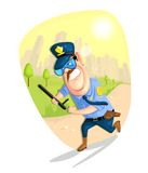 Security Guard. Illustration of security guard in vector Stock Images