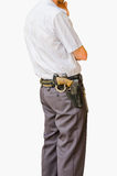 Security guard isolated Royalty Free Stock Image