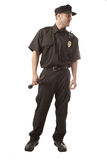 Security guard isolated on white Royalty Free Stock Photo