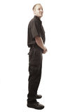 Security guard isolated on white Royalty Free Stock Photography