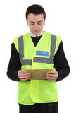 Security guard with mail Stock Image