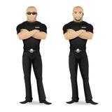 Мan security guard of nightclub Royalty Free Stock Image