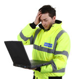 Security guard with a problem Stock Images