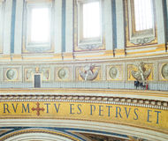 Security guard in Saint Peters Basilica. A security guard inside the St. Peter's Basilica in Vatican, Rome, Italy Royalty Free Stock Photos