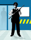 Security guard shotgun Royalty Free Stock Images