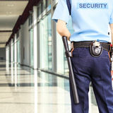 Security guard. A security guard stands at the Office Royalty Free Stock Photography