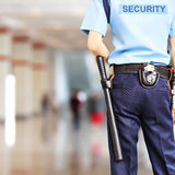 Security guard. A security guard stands at the Office royalty free stock photos