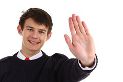 Security guard with a stop gesture Stock Photography