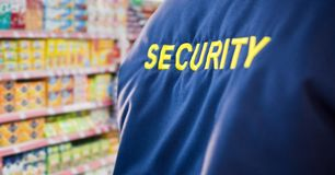 Security guard in the supermarket Stock Photography