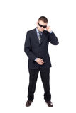 Security guard wearing a suit Royalty Free Stock Photo