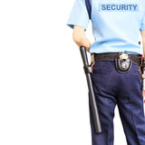 Security guard. On white background with clipping path stock photos