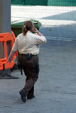 Security guard woman Stock Photo
