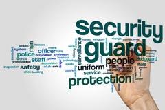 Security guard word cloud. Concept royalty free stock photos