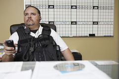 Security Guard At Work Royalty Free Stock Photography