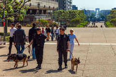 Security guards in city Stock Images