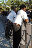 Security guards at concert Stock Photo