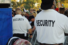 Security guards at concert Royalty Free Stock Images