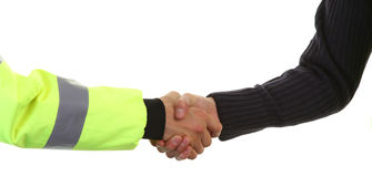 Security hand shake Royalty Free Stock Photos