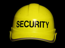 Security hard hat Stock Photo