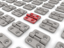 Security hinge target in crowd concept Stock Photography