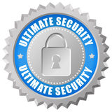 Security icon. Ultimate security icon with padlock Royalty Free Stock Photos