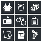 Security icon collection Royalty Free Stock Images