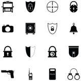 Security icon set. The security of icon set Stock Photo