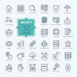 Security Icon set. Vector Illustration. Web icons collection - Security.  Vector, thin line set Stock Photos