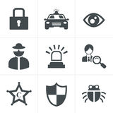 Security icon set. On white background Stock Image
