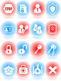 Security icons Royalty Free Stock Images