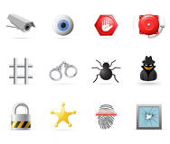Security icons. Set, part 1 Stock Photo