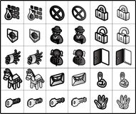 Security Icons. Icons for network structure. #security Stock Photos
