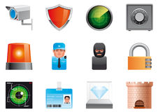 Security icons. Vector illustrations (EPS 10,includes transparency and mesh) Security icons Royalty Free Stock Images
