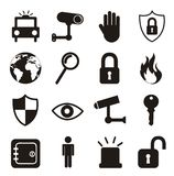 Security icons Royalty Free Stock Image