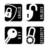 Security icons Stock Images