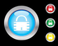 Security icons. Security glass button icons. Please check out my icons gallery Stock Images